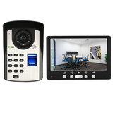 ENNIO 815FD11 7 polegada TFT Vídeo por cores Telefone Intercom Campainha Teclado Campainha Monitor de Câmera de Segurança Em Casa Sistema de Visão Noturna