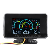 3 In 1 LCD Mobil Digital Voltmeter Tekanan Minyak Water Temp Gauge 12-24V