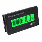 12V  8-70V LCD Acid Lead Lithium Battery Capacity Indicator Digital Voltmeter