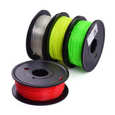 TWO TREES® 4Pcs 200g / Spool 1.75mm Red + Yellow + Green + Transparent Color PLA Kit de filamentos para impresión 3D