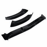 Carro preto brilhante pára-choques dianteiro lip kit protetor de corpo spoiler para mercedes c-classe w205 c250 c300 c350 2015-2018
