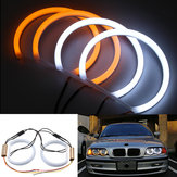 131mm Cotton Light White Amber Angel Eye Halo Ring DRL For BMW E36 E38 E39 e46 Car Lights