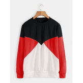 Women Casual Color-Block Long Sleeve T-Shirts