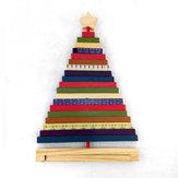 Transforme enfeites de madeira de árvore de Natal listrada Presentes criativos Decoração Brinquedos