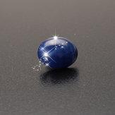 Óvulos naturais da safira da estrela azul de 9 x de 11mm 6 raios decorações soltas de pedra preciosa