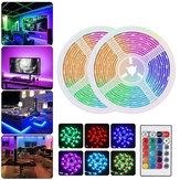 DC12V Waterproof 2M 3M 5M 10M SMD2835 RGB LED Strip Light + 24Keys Remote Control Home Outdoor KTV Hotel
