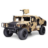 HG P408 Standard 1/10 2.4G 4WD RC Car U.S.4X4 Military Vehicle Truck w/o Battery Charger in Camouflage Yellow Color