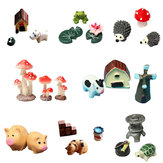 Miniatures Garden Decor Micro Landscape Ornaments Animals Furnitures Bonsai Decorations