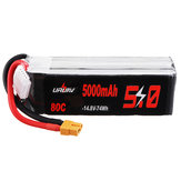 URUAV 14.8V 5000mAh 80C 4S Lipo Battery XT60 Plug for RC Boat Car Quadcopter Airplane