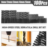 100Pcs 1-5mm High-speed Steel Serratula Twist Drill Bit Set
