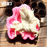 3D Silicone Pegasus Horse Fondant Cake Mould Chocolate Decor Mould Sugar Crafts