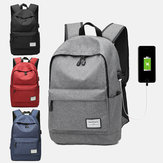 Men Large Capacity Waterproof Multi-layer USB Backpack