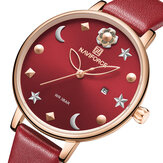 Orologio da polso casual da donna NAVIFORCE 5009 Moon Star Design