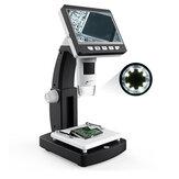 MUSTOOL G710 1000X 4.3 pulgadas HD 1080P Escritorio portátil LCD Microscopio digital 2048 * 1536 Resolución Objeto Etapa Altura Altura ajustable Soporte 10 idiomas 8 Alto brillo ajustable LED