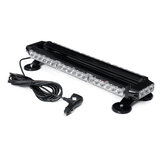 21 Inch 144W 42LED Double Side Traffic Strobe Flash Light Bar Amber Emergency Lamp Magnetic Mount 12V Universal