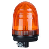 DC12-24V 80LED Roof Rotating Flash Amber Beacon Strobe Tractor Warning Signal Light Lamp