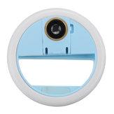 Selfie universal LED Anel Flash Câmera macro com lente grande angular para telefone celular de 0,63x