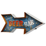Metal Arrow LED Light Sign Poster Neon Bar club Game Pub Lamp Wall Decor