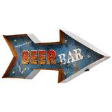 Seta de metal LED Sinal de Luz Cartaz Neon Bar club Jogo Pub Lâmpada Decoração Da Parede