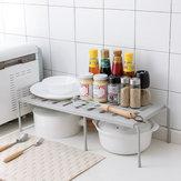 Tek Katmanlı Genişletilebilir Mutfak Depolama Rafı Ayarlanabilir Mutfak Tezgahı Düzenleyici Raf