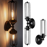 Vintage Industrial Retro 1/2 Head Wall Light Aisle Lamp Sconce Fixture Bedroom Home