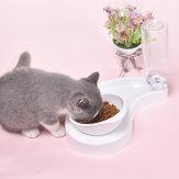 Automatisch 2-in-1 voerbak voor katten Kattenbak Waterer Dispenser Puppy Eten van voedsel Schotel