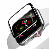 Base 0.2mm Curved Edge Anti Scratch Protector de pantalla de vidrio templado de cubierta completa para Apple Watch Series 4/Apple Watch Series 5