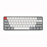 Geek Disesuaikan SK61 60% 61 Tombol NKRO Gateron Sumbu Optik Type-C RGB Kabel Backlight Keyboard Gaming Mekanik