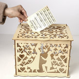 Wedding Greeting Card Box Wooden Box Lock Wedding Party Decoration Money Case