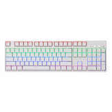 104 teclas NKRO USB con cable RGB retroiluminado Gateron Switch PBT Double Shot Keycaps Mecánico Gaming Teclado para E-sport office PC portátil