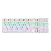 104 Anahtar NKRO USB Kablolu RGB Arkadan Aydınlatmalı Gateron Anahtarı PBT Çift Atış Keycaps Mekanik Oyun Klavye E-spor ofis PC Laptop için
