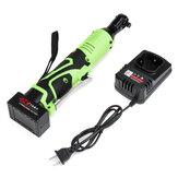 42V 100N.m 3/8 '' LED-verlichting Draadloze elektrische sleutel 90 ° haakse sleutel + 1/2 batterij