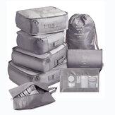 8pezzi/setpannoesterno Oxford Coloreful deposito valigie Borsa set bagagli imballaggio Organizzatore