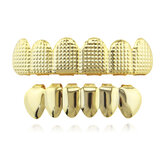 Grade 3D listrada Metal Bracket Grillz Teeth Jewelry