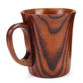 400ml手作りの天然木製ミルクコーヒーティーカップバレルジュースドリンク