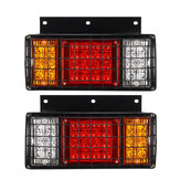 2PCS LED Tail Brake Lights Rear Turn Lamp for 24V Trailer Truck Caravans Boat