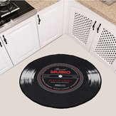 60-120cm Retro Music CD Record Printed Soft Round Floor Mat Room Area Carpet Rug