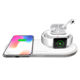 Bakeey 3in1 10W Qi LED Indicator Quick Charger Wireless Charging Dock Station for iPhone 11 TWS Airdots SmartWatch for Samsung S10+ HUAWEI