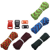 IPRee® 5 sztuk / zestaw Outdoor EDC DIY Paracord Parachord Rope Cord Smycz Survival Bransoletka Knit Weos Toos Kit With Buckle