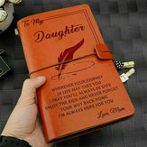 To My Daughter Where Ever Love Mom Engraved Leather Journal Notebook Diary Custom Message Quotes Gift Anniversary Birthday
