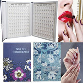 180 Color Nail Tips Chart Display Book For Nail Art Polish Salon Design