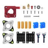 Extrudeuse de métal de type droit TWO TREES® + TL-Smoother + Amortisseur de moteur pas à pas 2 * + Kit de ressorts 4 * pour imprimante Creality 3D CR10