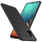 Bakeey Carbon Fiber Texture Slim Soft TPU Anti-val anti-vingerafdruk beschermhoes voor Samsung Galaxy A71 2019