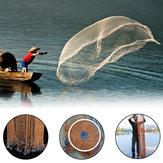 ZANLURE 8 / 10FT Balıkçılık Net El Döküm Lastik Hattı Spin Kolay Atmak Ağ Yem Net Ile Platin