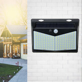 208LED Solar Powered Wall Light PIR Motion Sensor Outdoor Garden 3 Side Lamp
