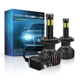 Mini F6 55W 6 Sides LED Car Headlights Bulbs H1 H7 H8/H9/H11 9005 9006 3D 360 Degree Fog Lamp 6000K Pure White