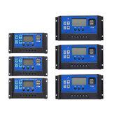 10A-60A 12V / 24V Solar Controlador de cargador de panel Batería Regulador Dual USB LCD Pantalla Solar Controlador de carga