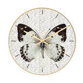 Loskii CC012 Créatif Motif Papillon Horloge Murale Muet Horloge Murale Horloge Murale À Quartz Pour Les Décorations De Bureau À La Maison