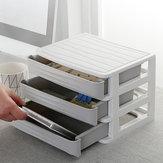 Armazenamento da mesa de escritório Caixa Gaveta Tipo Armário de armazenamento de cosméticos Camada de armazenamento de detritos Bolsa