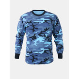 Mens Hunting Camo Tee T-shirts Long Sleeve Camouflage Fitness Shirt Sports Tops Pullover T-Shirt